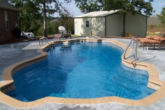 Family size fiberglass pool built for fun!