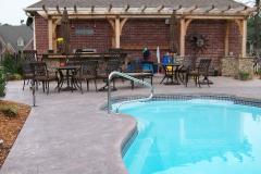 Fiberglass Pool with Pergola