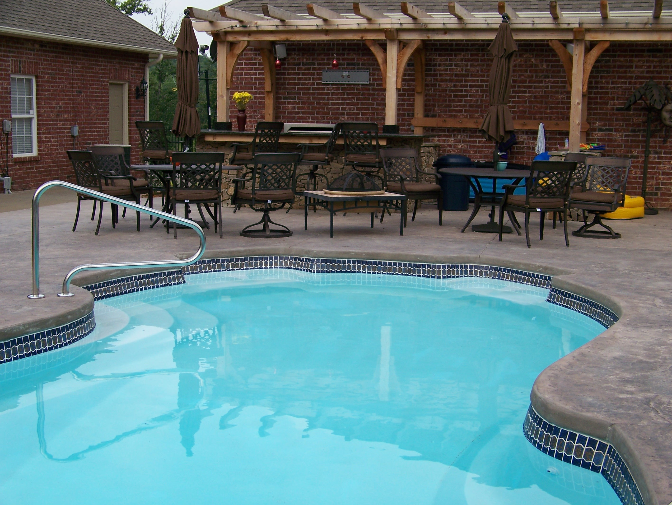 Fiberglass Pools Tile And Concrete Images Swimming Pool Contractor Tulsa Ok
