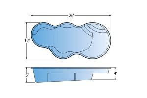 Eclipse Fiberglass Pool Shape