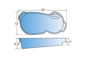 Enterprise Fiberglass Pool Shape