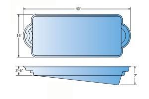 Halo Fiberglass Pool Shape
