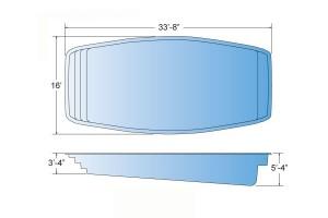 Inception Fiberglass Pool Shape