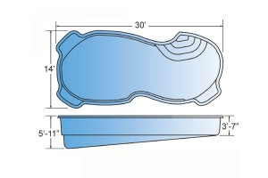 Mariner Fiberglass Pool Shape