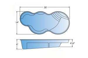 Nebula Fiberglass Pool Shape