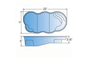 Neutron Fiberglass Pool Shape