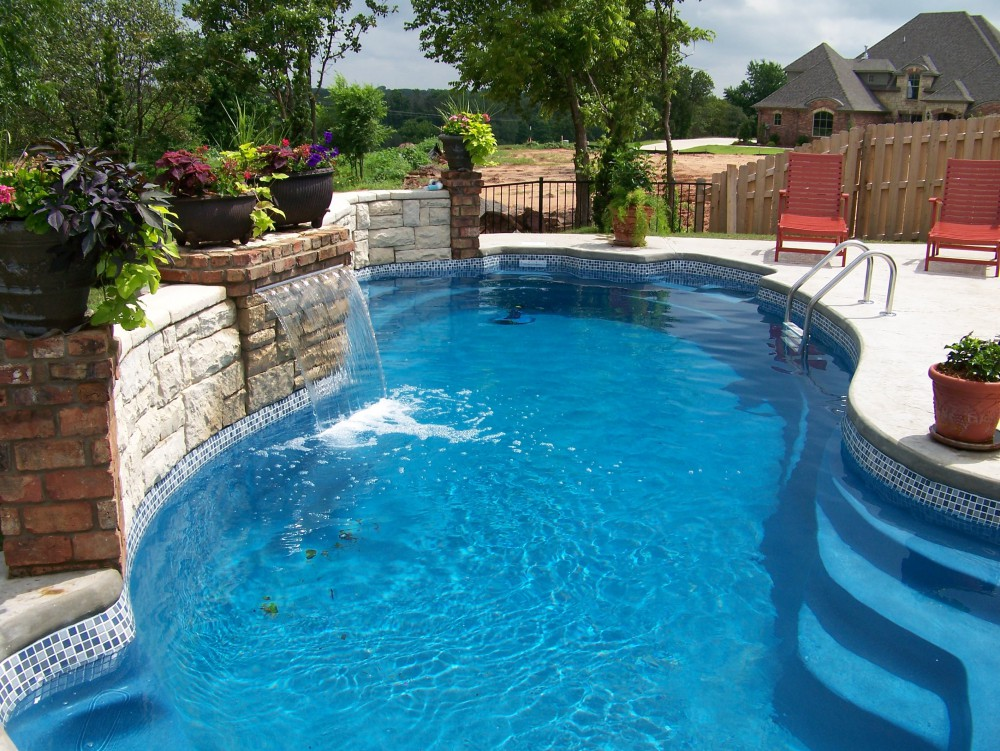 Custom inground fiberglass pools swimming pool for Fiberglass inground swimming pools