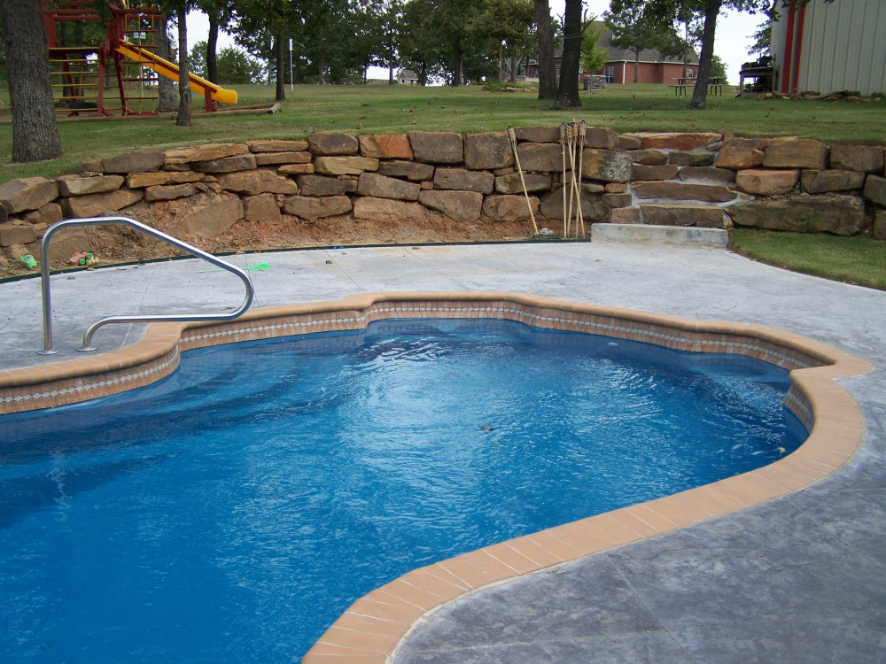 Custom inground fiberglass pools swimming pool for In ground pool contractors