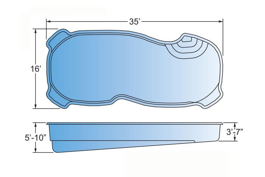 Sentari Fiberglass Pool Shape
