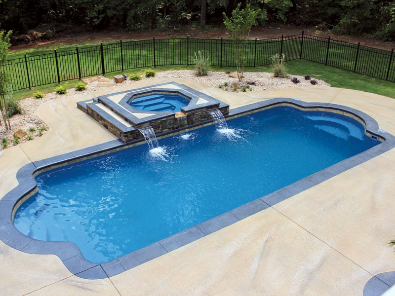 Custom inground fiberglass pools swimming pool - Swimming pool contractors oklahoma city ...