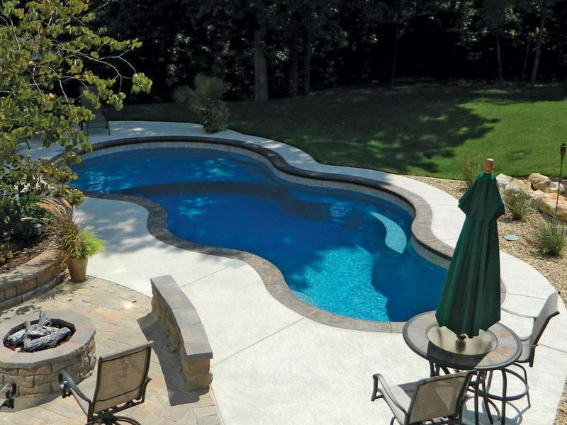 Axiom Trilogy fiberglass pools Tulsa OK