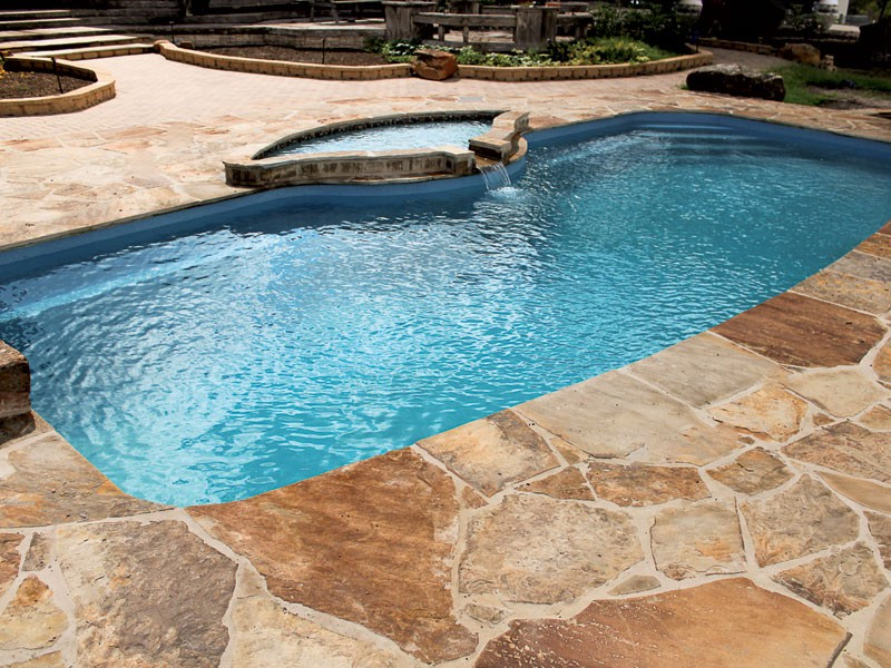Fiberglass pools designs and shapes swimming pool - Swimming pool contractors oklahoma city ...