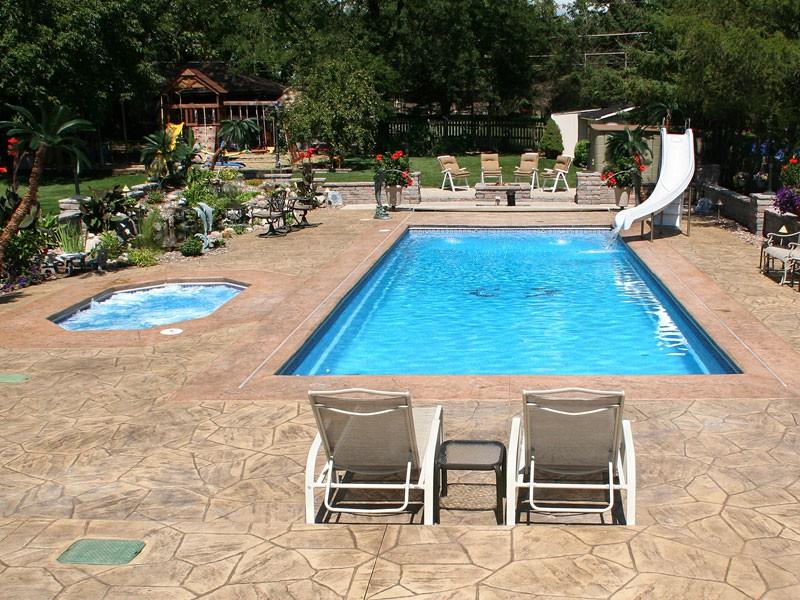 Fiberglass Pools Designs And Shapes Swimming Pool