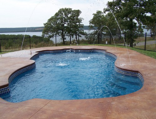 Inground fiberglass pool overview swimming pool - Swimming pool contractors oklahoma city ...