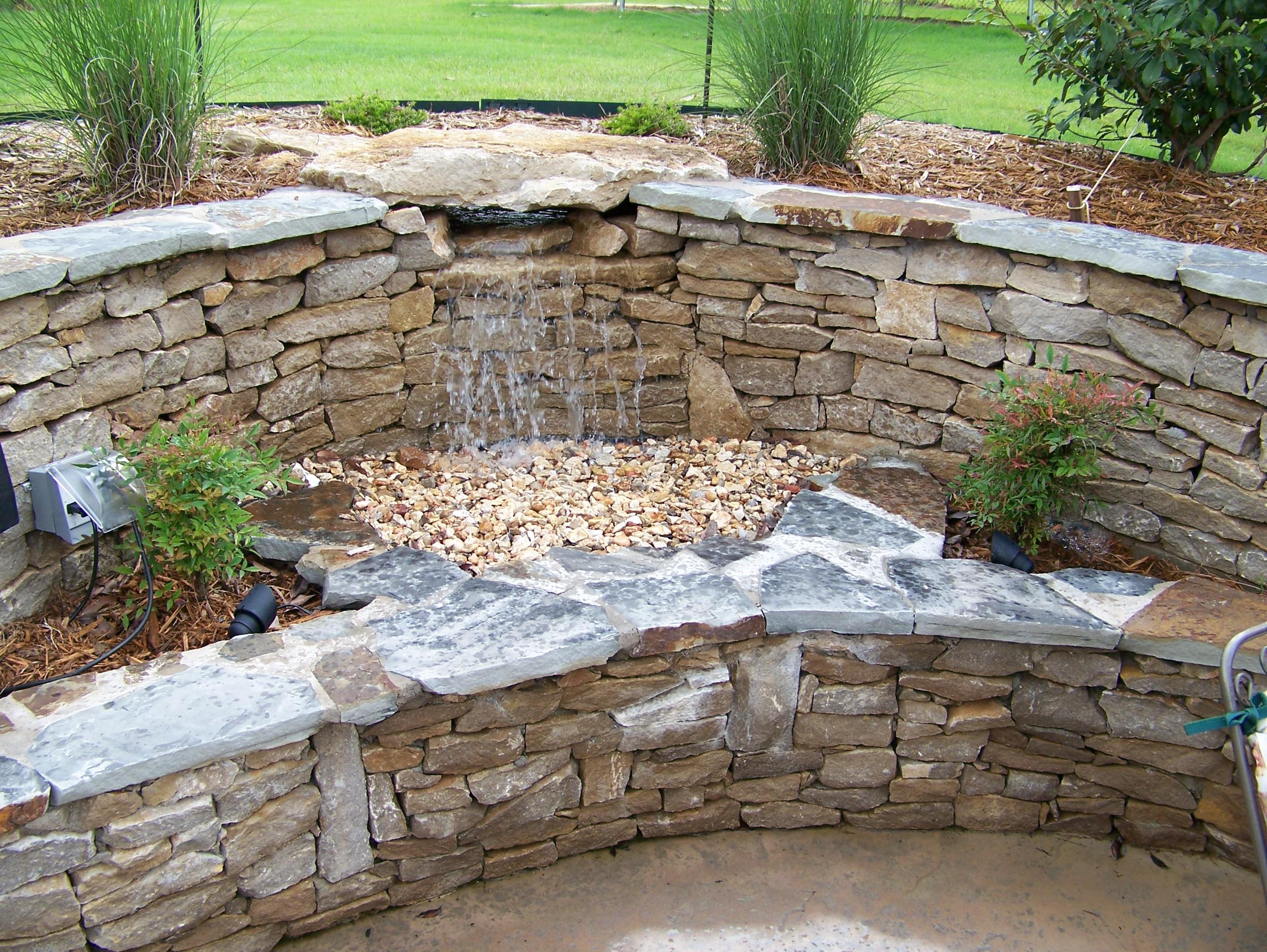Fiberglass Pool Rockwall And Planter Swimming Pool Contractor Tulsa Ok